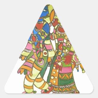 Radha Krishna Calcomanía De Triangulo Personalizadas