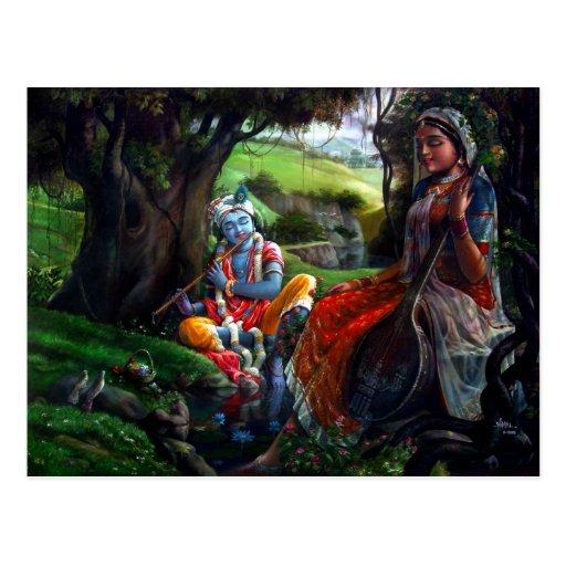 Radha Krishna Post Card