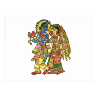 Radha Krishna Postcard