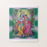 """Radha Krishna puzzle<br><div class=""""desc"""">Radha and Krishna are pictured on this puzzle.</div>"""