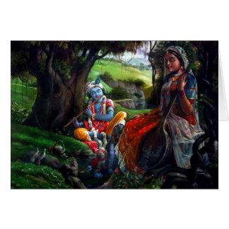 Radha Krishna Tarjeta De Felicitación