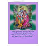 Radha Krishna words Greeting Card