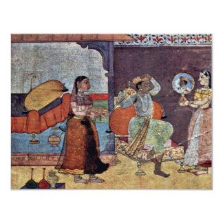 Radha Krishna y su amigo de confianza por Meister Invitación 10,8 X 13,9 Cm