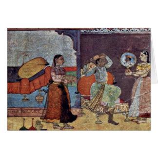 Radha Krishna y su amigo de confianza por Meister Tarjeta De Felicitación
