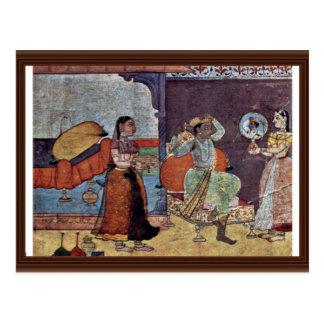 Radha Krishna y su amigo de confianza por Meister Postal