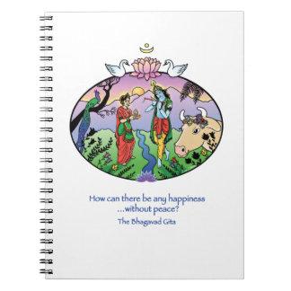Radha y Krishna Libretas Espirales