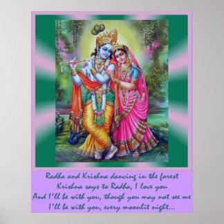Radha y Krishna Posters