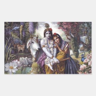 Radha y Krishna Rectangular Altavoz