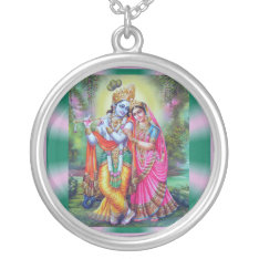 RadhaKrishna necklace at Zazzle