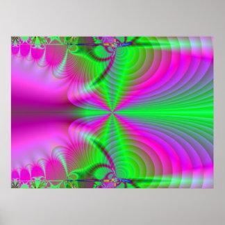 Radiación de la estriación póster