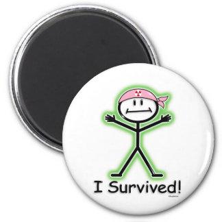 Radiación del superviviente del cáncer de pecho imán