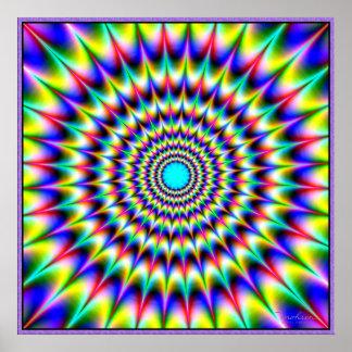 Radiación implacable de los colores póster