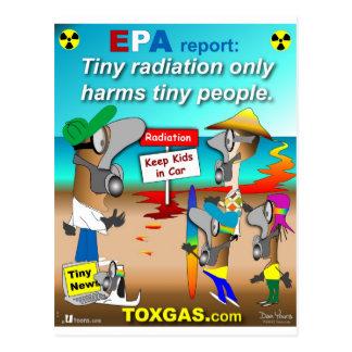 Radiación minúscula postales