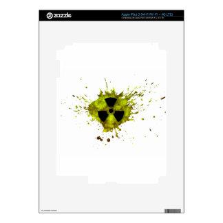 Radiación Splat - desechos radioactivos Pegatinas Skins Para iPad 3