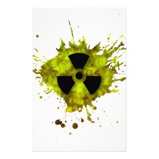 Radiación Splat - desechos radioactivos Personalized Stationery
