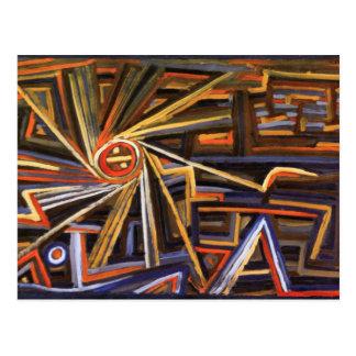 Radiación y rotación de Paul Klee Postal