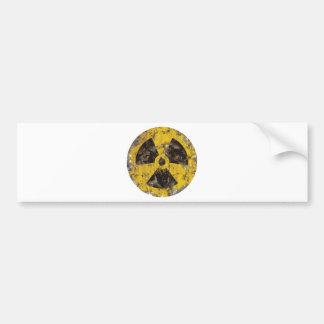 Radiactivo aherrumbrado pegatina de parachoque