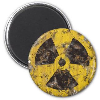 Radiactivo aherrumbrado imán redondo 5 cm