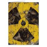 Radiactivo aherrumbrado tarjeta