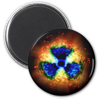 radiactivo imán redondo 5 cm