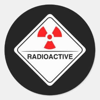 Radiactivo Pegatina Redonda