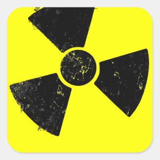 Radiactivo Pegatinas Cuadradases