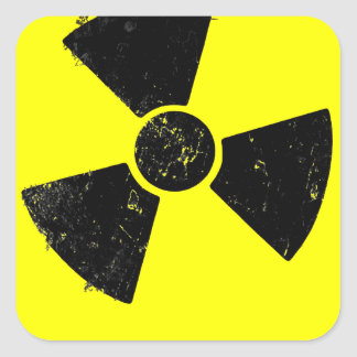 Radiactivo Pegatina Cuadrada