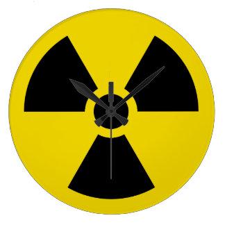 Radiactivo Reloj Redondo Grande