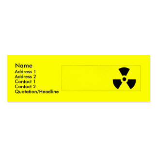 Radiactivo Plantilla De Tarjeta Personal