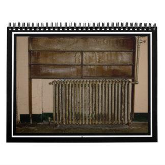 Radiador oxidado (calentador de sitio) en la calendario
