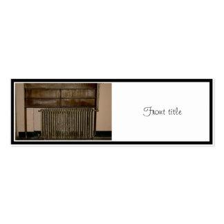 Radiador oxidado (calentador de sitio) en la tarjetas de visita mini