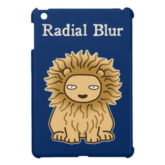 Radial Blur (color for dark) iPad Mini Cover