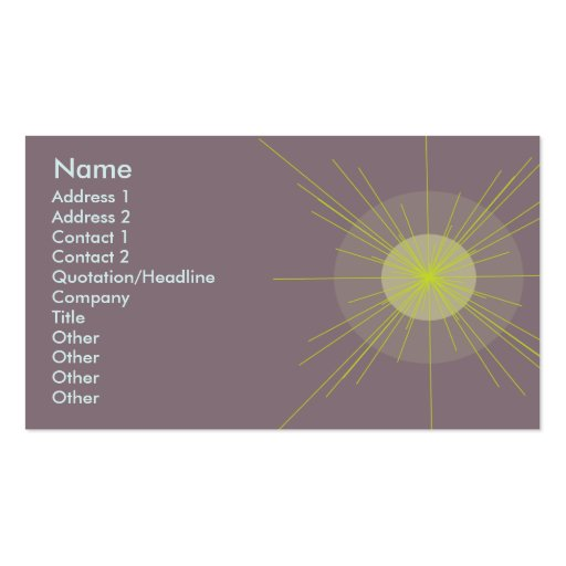 Radial - Business Business Card