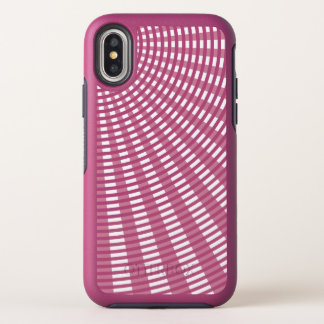Radial Circular Weaving Pattern - Pink OtterBox Symmetry iPhone X Case