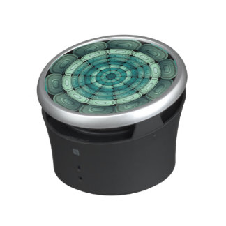 Radial dark turquoise bluetooth speaker