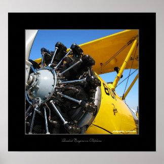 Radial engine/biplane print