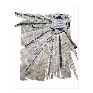 Radial Explosion Postcard