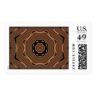 Radial Gold Floral Stamps