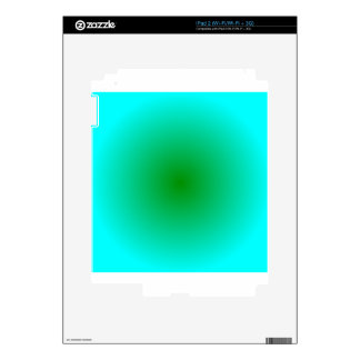 Radial Gradient - Cyan and Green Decals For The iPad 2