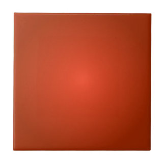 Radial Gradient - Dark Red and Light Red Ceramic Tile