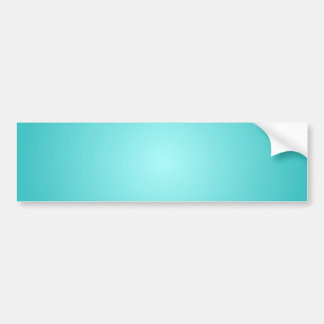 Radial Gradient - Turquoise and Light Cyan Bumper Sticker