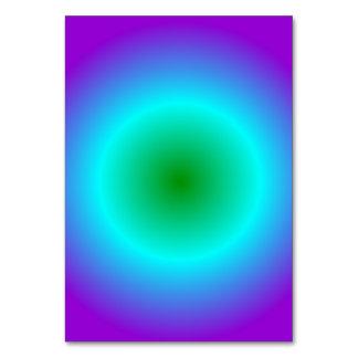 Radial Gradient - Violet, Cyan, Green Card