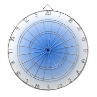 Radial Gradient - White and Blue Dartboards