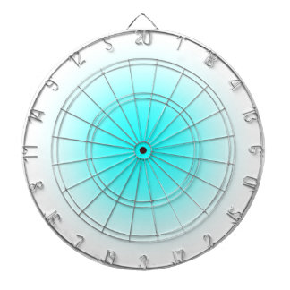 Radial Gradient - White and Cyan Dartboard With Darts