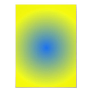 Radial Gradient - Yellow to Blue Card