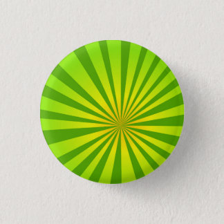 Radial green pinback button