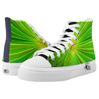 Radial Palm Leaf, Tulum High-Top Sneakers