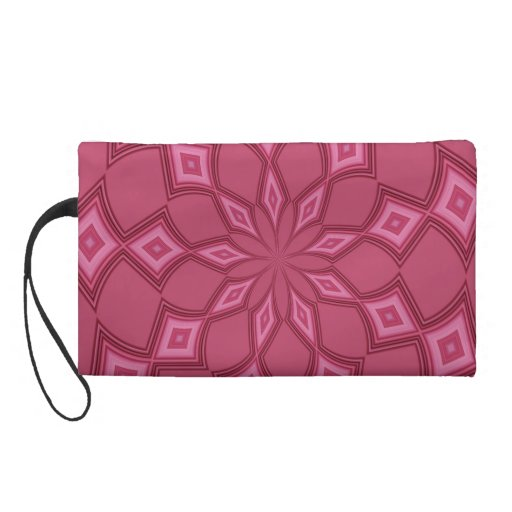 radial pattern abstract wristlet purse