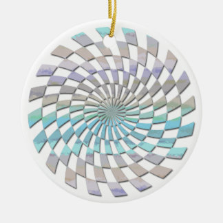 RADIAL PATTERN IN PASTELS Double-Sided CERAMIC ROUND CHRISTMAS ORNAMENT