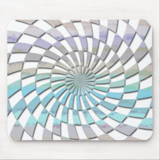 RADIAL PATTERN IN PASTELS MOUSE PADS
